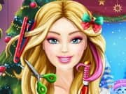 Juego Barbie Christmas Real Haircuts