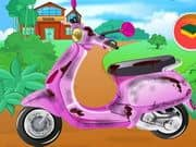 Juego Barbie School Bike Cleaning