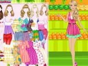 Juego Dress Up Barbie Fruiterer