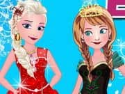 Juego Elsa With Anna Dressup