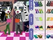 Juego de Monster High Chibi Werecat Sisters
