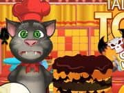 Juego de Talking Tom Cooking Halloween Cake