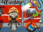 Juego Talking Tom Firetruck Washing