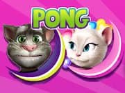 Juego Talking Tom vs Angela Pong